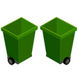 3d design for green trashcans vector image vector image
