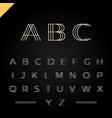 3d effect font or alphabet letter set vector image