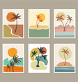 abstract beach landscape cover vector image