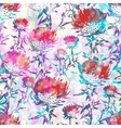 Abstract flowers seamless pattern EPS10 vector image vector image
