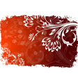 Abstract Grunge Flower Background vector image vector image
