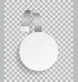 advertising wobbler promotion plastic white vector image vector image