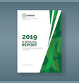 annual report template with abstract green vector image vector image