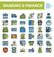 banking and finance outline color icon base vector image vector image