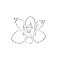 beautiful orchid flower simple black lined icon on vector image vector image