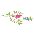 bird on a tree branch vector image vector image