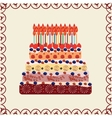 Birthday cake thirty years vector image vector image