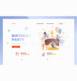 birthday party website header template vector image
