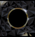 black background with ball gold banner vector image