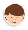 boy smiling icon vector image