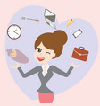 business mom balance work and life cartoon vector image vector image
