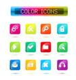 buttons icon set web symbol set vector image