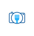 camera food logo icon design vector image
