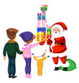 cartoon cheerful main character of christmas with vector image vector image