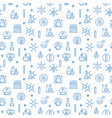chemistry seamless pattern with chemical vector image vector image
