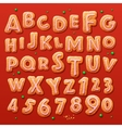 christmas gingerbread cookies alphabet and numbers vector image vector image