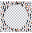 circle people sign 3d vector image vector image
