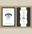 coffee menu design template flyer for bar or cafe vector image vector image