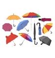 Colorful umbrellas set vector image vector image