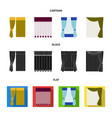 curtains drapes garters and other web icon in vector image