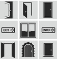 Different doors web icons collection vector image