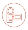 Digital video camera line icon vector image vector image