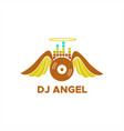 dj angel logo vector image