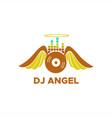 dj angel logo vector image vector image