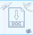 doc file document icon download doc button line vector image vector image