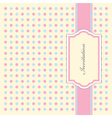 Dotty Invitation Pattern vector image vector image