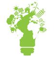 eco light bulb world vector image vector image