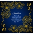 Elegant invitation card with floral lace quilling vector image vector image