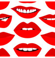 Fashion pattern with red lips