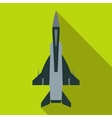 Fighter jet icon in flat style vector image vector image