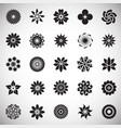 flower icons set on white background for graphic vector image