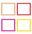four borders in multiple colors set vector image vector image