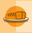 fresh bread bakery product in dish vector image