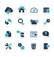Ftp hosting icons azure series vector | Price: 1 Credit (USD $1)