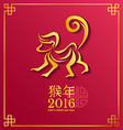Gold monkey Zodiac Chinese wording Translation is vector image vector image