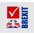 Great Briitain leaves european union referendum vector image vector image