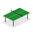 green ping pong table is an isometric design vector image vector image