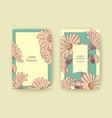 hand drawn chrysanthemum flowers greeting card vector image