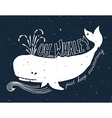 Hand drawn grunge of whale vector image vector image