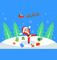 happy boy celebrating christmas vector image vector image