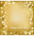 Happy New Year Golden Background vector image vector image