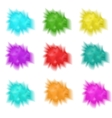 Holly set realistic splashes of paint Collection vector image vector image