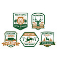 hunting club hunt open season icons badges vector image vector image