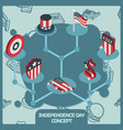 independence day color concept vector image