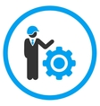 Industrial Engineering Icon vector image vector image