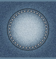 jeans circle with spangles vector image vector image